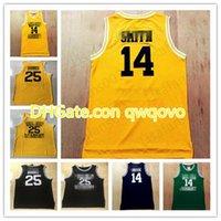 Basketbol Dikişli Formalar Siyah Sarı Yeşil 14Smith 25 Carlton Banks Taze Prens of Bel Academy Film