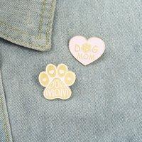 Dog mamma rosa smalto pins personalizzato amore cuore zampa spilla badge badge sacchetto del fumetto gioielli regalo per gli amici