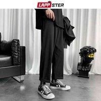 LAPPSTER Mens Streetwear Joggers Pants Hip Hop Black Track Pants Male Korean Fashions Harajuku Pockets jogging 5XL