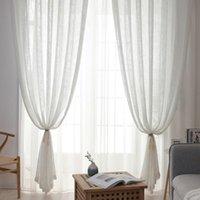 Занавес Drapes 1 шт. Мода Прозрачные шторы для гостиной Сплошное Цветное Около Около Около Драк Спальня Домашний Декор Поставки T