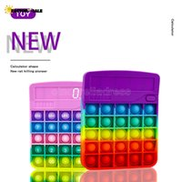 US Stock NEW Fidget Calculator Leksaker Kawaii Antistress Push Bubble Rainbow Reliver Stress Vuxen Chlidren Sensory Toy Presenter med Autism FT14
