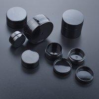 50pcs lot Empty 1g 2g 3g 5g 10g 20g Black Portable Cream Jar jars Pot Box Makeup Nail Art Cosmetic Bead Storage Container