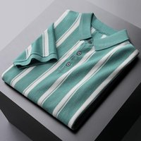 Men's T-Shirts Spring Summer Mens High Quality Short Sleeve Knitted Casual Man Luxury Slim Fit Men 3xl