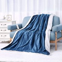 Electric Blanket 180x130cm, With 6 Heating Levels & (1-5H) Automatic Switch-off & Overheating Protection, for Home , Office , Blue Flannel Washable