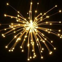 Party Dekoration grenzüberschreitende LED Feuerwerk Lichter Solarlicht String Weihnachten Explosion Kupferdraht Outdoor Garden Deco