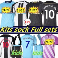 Newcastl E United Soccer Jersey Nufc New Castle Shearer Wilson Shelvey Almiron 2021 2022 Joelinton Football Shirt Gayle Maximin Men Kit Kids Equipment Sets