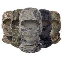 Tactical Camouflage Balaclava Full Face Mask CS Wargame Cycling Army Hunting Bike Windproof Helmet Liner Army CP Scarf Mask 24 Z2