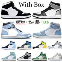 2021 Top Quality Jumpman 1 1S Zapatos de baloncesto para hombre Hyper Royal University Blue Lucky Green Unc Twist Onsidian Mujer zapatillas de deporte Tamaño 36-46