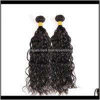 Weaves Remy & Productselibess Water Wave Brazilian Extension Big Curly 100Percent Unprocessed Virgin Human Bundles 3Pcs Lot Natural Color Ha