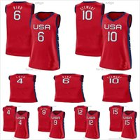 USA Team 2021 Tokyo Olympics Basketball 17 Skylar Diggins-Smith 4 Jewell Loyd 18 gris 11 Elena Delle Donne 7 Maya Moore 14 Tina Charles Rouge