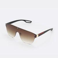 Gafas de sol de una sola pieza de gran tamaño de la moda de alta calidad 2021 mujer gafas de sol para hombre occhiali gafas occhiali para las mujeres Lujo \ u00a0designer Sunglass 555