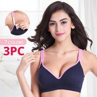 Bras 3PC lot Maternity Nursing Cotton Breastfeeding Pregnant Women Pregnancy Underwear Breast Feeding Bra Clothing