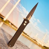 Excellent Quality Protech 1918 + G10 Godfather Outdoor Hiking Aviation Aluminum Pr7s   N292 Camping Kitchen Knife Self Defense EDC Tool
