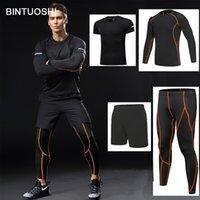 Bintuoshi 4 штуки сухого приспособления компрессионные трексуиты фитнес жесткий ходовой набор футболки длиной мужская спортивная одежда спортивная спортивная спортивная SPORTKK4CKCIW0CIW0CIW0QM5A