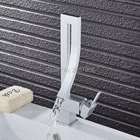 Banyo Lavabo Bataryaları Gizero Döndürme Fantezi Tasarım Gümüş Renk Şelale Havzası Musluk Dokunun Güverte Dağı Pirinç Mikser GI876