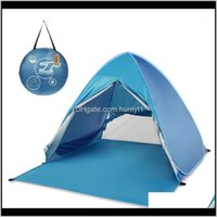 Tents And Shelters Professional Matic Instant Up Beach Oudoor Ultralight Camping Tent 2 Person Lightweight Uv Protection Sun Shelter1 Mjrvo