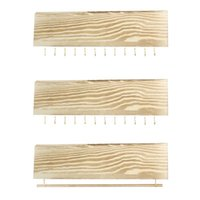 3pcs Earring Display Jewelry Rack Set Storage Home Natural Wood Vintage Necklace Wall Mounted Multifunctional Durable Gift Pouches, Bags