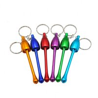 Hot Smoking Pipe glass water Aluminum Alloy Keychain mushroom Tobacco pipe metal pipes smoking accessories keychain
