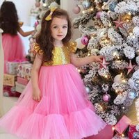 Girl's Dresses Baby Girls Lace Formal Birthday Dress For 1 2 Year Born Baptism Clothes Toddler Kid Christening Party Wedding Tutu Gown
