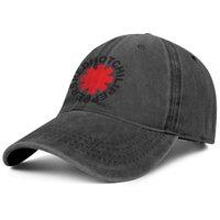 Elegante Red Hot Chili Peppers Unisex Denim Berretto da baseball in bianco Cappelli personalizzati RHCP Doodle Cool Logo Sono con te X Ray Asterisk Heart