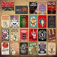 2021 rétro rock rouleau peinture affiche musique musique jazz acdc métal signes vintage bande dessin décor de la fête Pub Bar Cafe film cinéma étoiles célèbre club décoration murale
