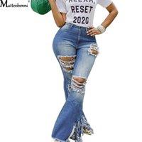 Moda Kadınlar Için Yırtık Kot Pantolon Püskül Patchwork Ile Vintage Flare Patchwork Çan Alt Jean Denim Pantolon Pantolon Kadınlar