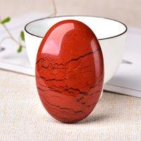 2,36 '' Afrika Red Jasper Quartz Crystal Healing Palm Stone Massage Meditation