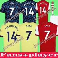 Arsen 21/22 Gunners Home Soccer Jersey 2021 Pepe Nicolas Ceballos Henry Guendouzi Smith Rowe Willian Tierney Odegaard Saka Thomas كرة القدم قميص