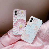 Luminous Water Sticker Embossed TPU Phone Case For Iphone 12 11 Pro Max X Xr Xs Max 7 8 Plus Shockproof Silicone Back Cover