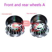 Accessoires Roues avant et arrière 8-pouces Karting Jantes en aluminium à 4 roues de 4 roues pour 19/20 / 21x7.00-8 18 / 20x9.50-8 pneus moto