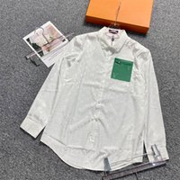 European British early spring and summer latest letter full print shirt men women breathable mixed cotton casual slim shirts