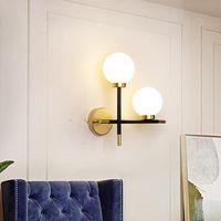Wall Lamps Nordic E27 Lamp Glass Ball Led Mirror Light For Living Room Bedroom Study Corridor Bedside Modern Decor Home