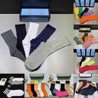 Orijinal Kutusu ile 2021 Yeni Erkek Bayan Spor Uzun Çorap 100% Pamuk Toptan Kadın Nakış Kaplan Kurt Başkanı Çiftler Tasarımcı Çorap