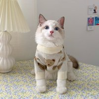 Ins Pet Dog Autumn and Winter Clothing Thickening Warm Cute Kitty Puppet Cat Sweater BUCS