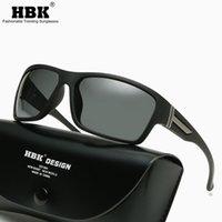 HBK Sport Herren Sonnenbrillen Polarisierte Männer Beschichtung Spiegel Winddichte Gläser Für Angeln Oculos Männliches Eyewear Zubehör UV400