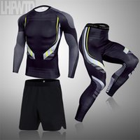 Men's Compression Running Set Tight Legging Shirt Pant Long Sleeves Clothing Tracksuit Suit Man Winter sports Thermal underwear 210924