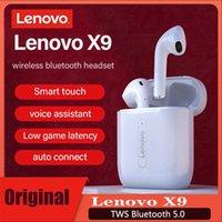 Lenovo X9 سماعة بلوتوث لاسلكية V5.0 لوحة التحكم باللمس ستيريو HD يتحدث مع 300mAh بطارية mic سماعات