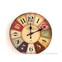 Décor casa giardino consegna consegna 2021 orologi da parete quarzo stile europeo antico moda creativo vintage silenzioso orologio in legno orologio soggiorno