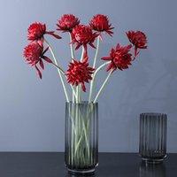 5Pcs Simulation Artichoke Saussurea Indoor Home Table Decoration Flower Artificial Plants El Office Decor Fake Flowers Decorative & Wreaths