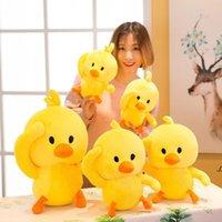 NEWPlush Toys Cute Little Yellow Duck Stuffed Animals Soft TikTok Kids Child Doll Christmas Birthday Gifts High Quality 20cm 25cm EWE6683