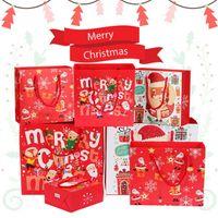 Счастливого Рождества подарок бумаги пакеты рождественские упаковки сумка снежинки конфеты новогодние детские подарки обертываются украшения FY4761