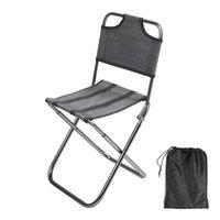 Leichte Outdoor-Angelschuhe im Freien durch starke Aluminiumlegierung Nylon Tarnung Falten Kleine Größe Stuhl Camping Wanderstuhl Sitzhocker 648 Z2
