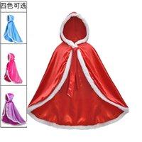 Designer Mascote Roupas Infantil Gelo e Neve Wonderland Princesa Cape Girls 'Performance Dress Aisha xale