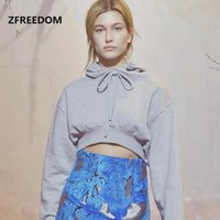 Women's Sweaters Fall Winter Europe And The United States Sexy Solid Color Leakage Navel Short Hooded Shirt Crop Cover Head Hoodie Wo