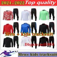 21 22 Manchester Erkekler + Çocuklar Eğitim Takım Elbise Ronaldo Futbol Setleri Survetement 2021 2022 Sancho Rashford Pogba B. Fernandes Shaw Futbol Eşofman Jogging