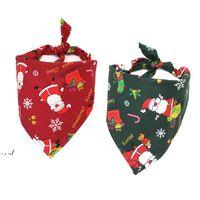 5 Style Chien Pet De Noël Bandana Bandana Coton Dog Foulard Bouse Collier Accessoires de toilettage Christmas Animaux de Noël Écharpe Triangulaire Unisexe RRF10977