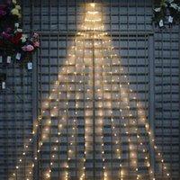 سلاسل Thrisdar 280/600 شجرة عيد الميلاد كرمة فرع ضوء النحاس الأسلاك الصمام سلسلة الجنية حديقة عطلة شلال جارلاند