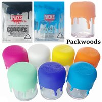 Packwoods Glass Jar Dab Dry Herb Storage Tubes PACKS Container Preroll E Cigarettes Package Joint Childproof Silicone Caps Tank Packaging