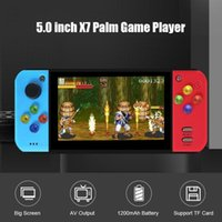 5.0 Inch Color Screen Retro Handheld Game Player Video Console For PSP FC NES Games Built In Battery Support TF Card Portable Players