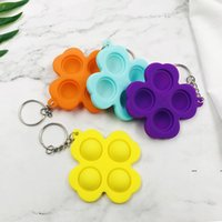 Rodent Pioneer Keychain Early Childhood Education toy Puzzle Press Finger Bubble Music Practice Board Silicone Decompression Toys